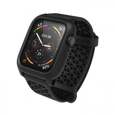 Case Catalyst Impact Protection with band for Apple Watch 44mm SERIES 4, 5 - BLACK - CAT44DROP5BLK