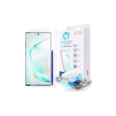 WHITESTONE DOME Tempered Glass Fullcover 3D 9H 0.33MM FULL CURVED for Samsung Galaxy NOTE 10+ PLUS - CLEAR