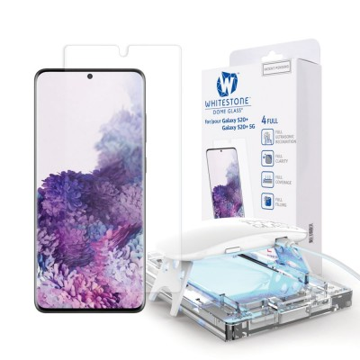 WHITESTONE DOME Tempered Glass Fullcover 3D 9H 0.33MM FULL CURVED for Samsung Galaxy S20+ PLUS - CLEAR