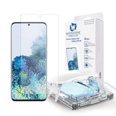 WHITESTONE DOME Tempered Glass Fullcover 3D 9H 0.33MM FULL CURVED for Samsung Galaxy S20 - CLEAR
