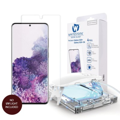WHITESTONE DOME Tempered Glass REPLACEMENT Fullcover 3D 9H 0.33MM FULL CURVED for Samsung Galaxy S20 - CLEAR