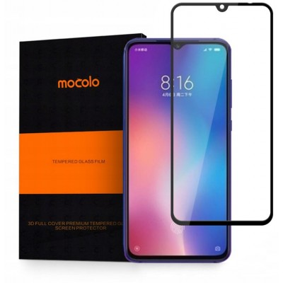 Screen Protector Fullcover MOCOLO CF TG+3D 0.3MM Tempered Glass for XIAOMI MI9 - BLACK