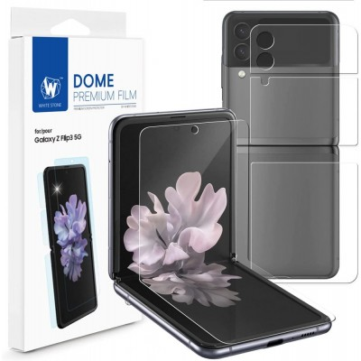 WHITESTONE DOME Screen Protector Fullcover 3D 5H 0.33MM FULL CURVED for Samsung Galaxy Z FLIP 3 - CLEAR