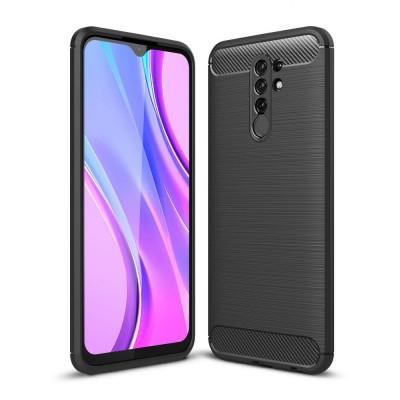 Case TECH PROTECT CARBON for XIAOMI smartphone REDMI 9 - BLACK