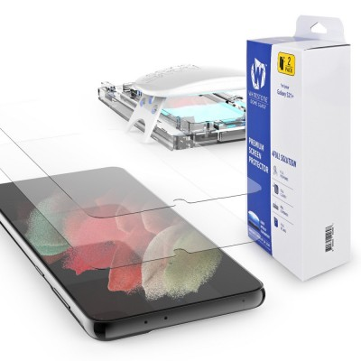 WHITESTONE DOME Tempered Glass Fullcover 3D 9H 0.33MM FULL CURVED for Samsung Galaxy S21+ Plus - CLEAR - 2 PCS