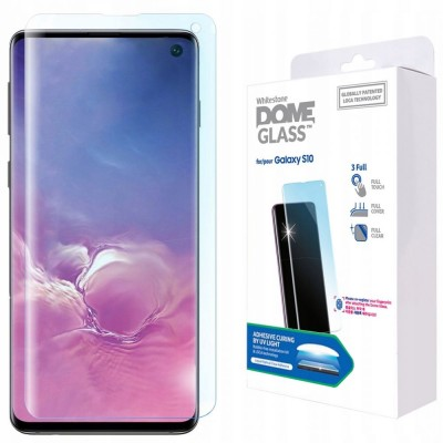 WHITESTONE DOME Tempered Glass REPLACEMENT Fullcover 3D 9H 0.33MM FULL CURVED for Samsung Galaxy S10 - CLEAR