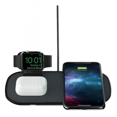 Mophie 3-in-1 Wireless triple Qi Charger for Apple Watch, AirPods, iPhone series - BLACK - MPH014