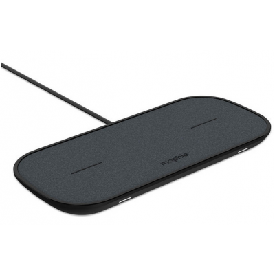 Mophie Dual 2-in-1 Wireless Qi Charger Pad 10W for AirPods, Smartphones - BLACK - 409903634