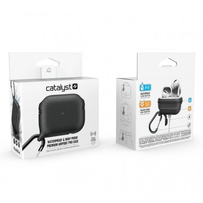 Case Catalyst Waterproof PREMIUM for Apple AirPods PRO - BLACK - CATAPDPROTEXBLK