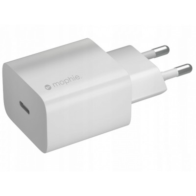 Mophie WALL Charger GaN USB-C PD Port 20W - MPH037WHT - WHITE